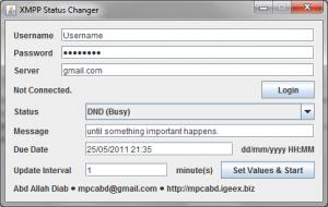 XMPP Status Changer