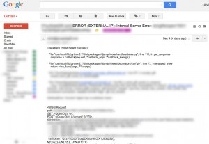 Django's error email sample